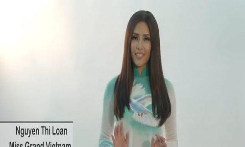 Phần giới thiệu của Nguyễn Thị Loan tại Miss Grand