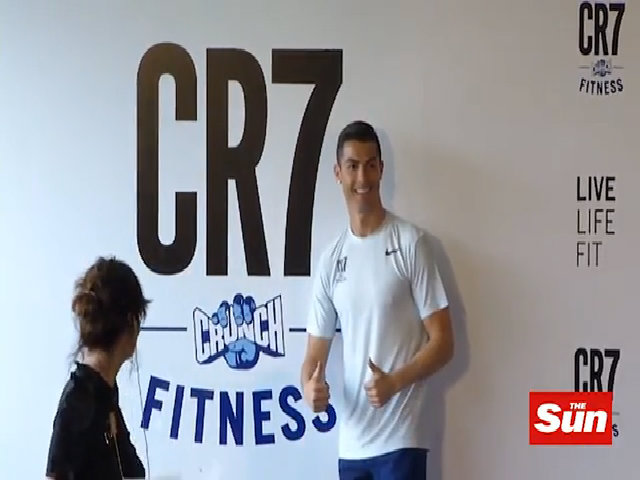 C. Ronaldo khai trương thương hiệu phòng gym CR7