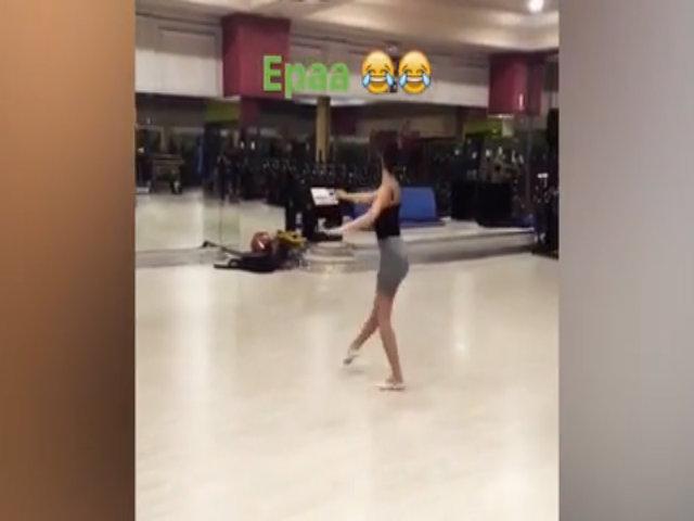 Bạn gái C. Ronaldo nhảy múa trong phòng gym