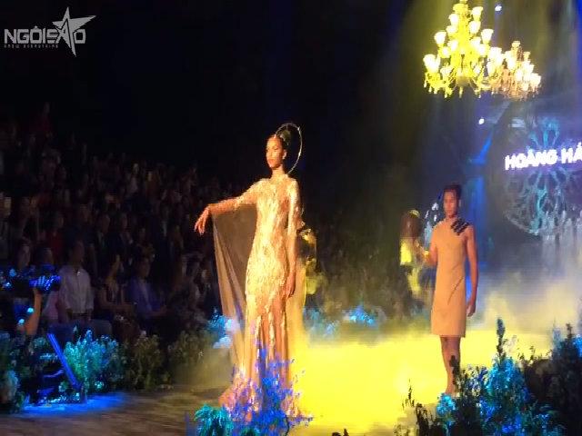 Hoa hậu Pháp làm vedette trong show NTK Hoàng Hải