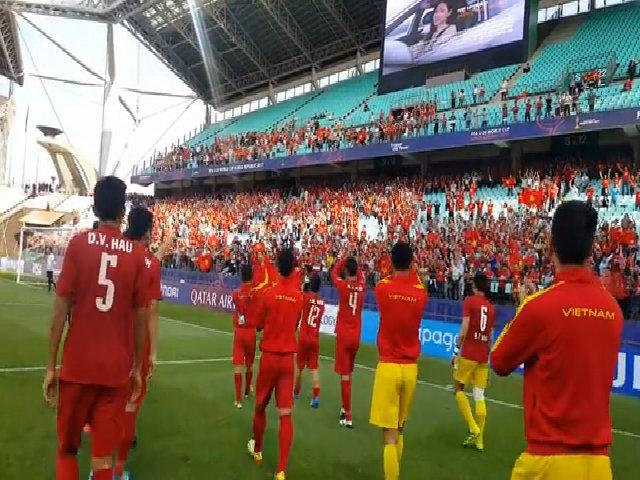 U20 Việt Nam cảm ơn người hâm mộ