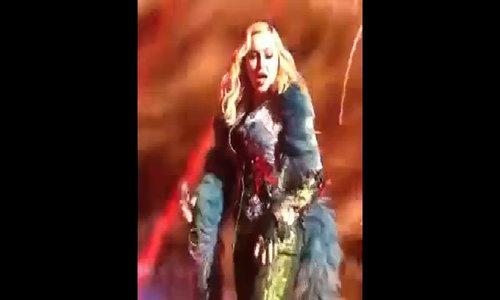 Madonna biểu diễn trong gala của Leo
