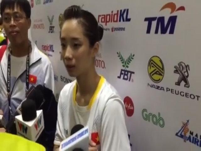 Hot girl Thúy Vi mang về HC vàng đầu tiên cho đoàn Việt Nam