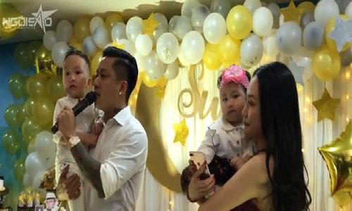 Vợ chồng Tuấn Hưng mở tiệc sinh nhật 3 tuổi hoành tráng cho con trai