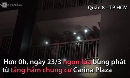 Giải cứu hàng trăm người trong đám cháy tòa nhà Carina