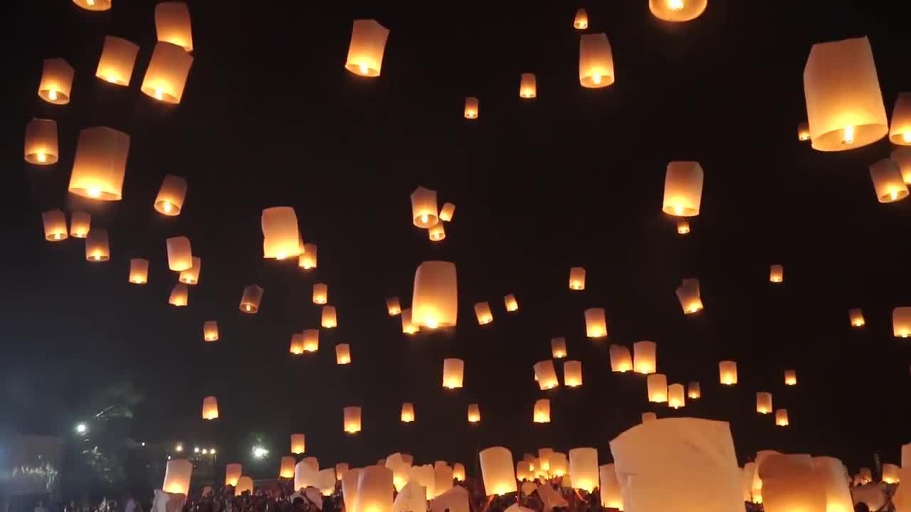 Lễ hội thiên đăng ở Thái Lan