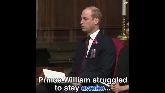 Hoàng tử William ngủ gật trong sự kiện hai ngày sau khi hoàng tử bé chào đời