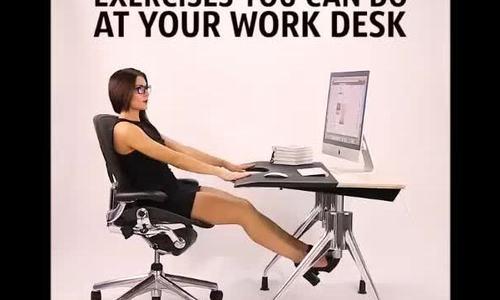 10 động tác thể dục bạn dễ dàng thực hiện ngay tại bàn làm việc