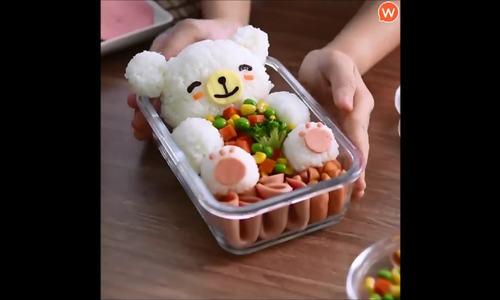 Hộp cơm hình con gấu xinh xắn