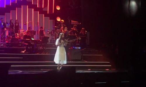 Mỹ Anh hát 'Bướm trắng' trong liveshow của mẹ