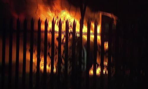 Hiện trường vụ cháy máy bay của tỷ phú Vichai
