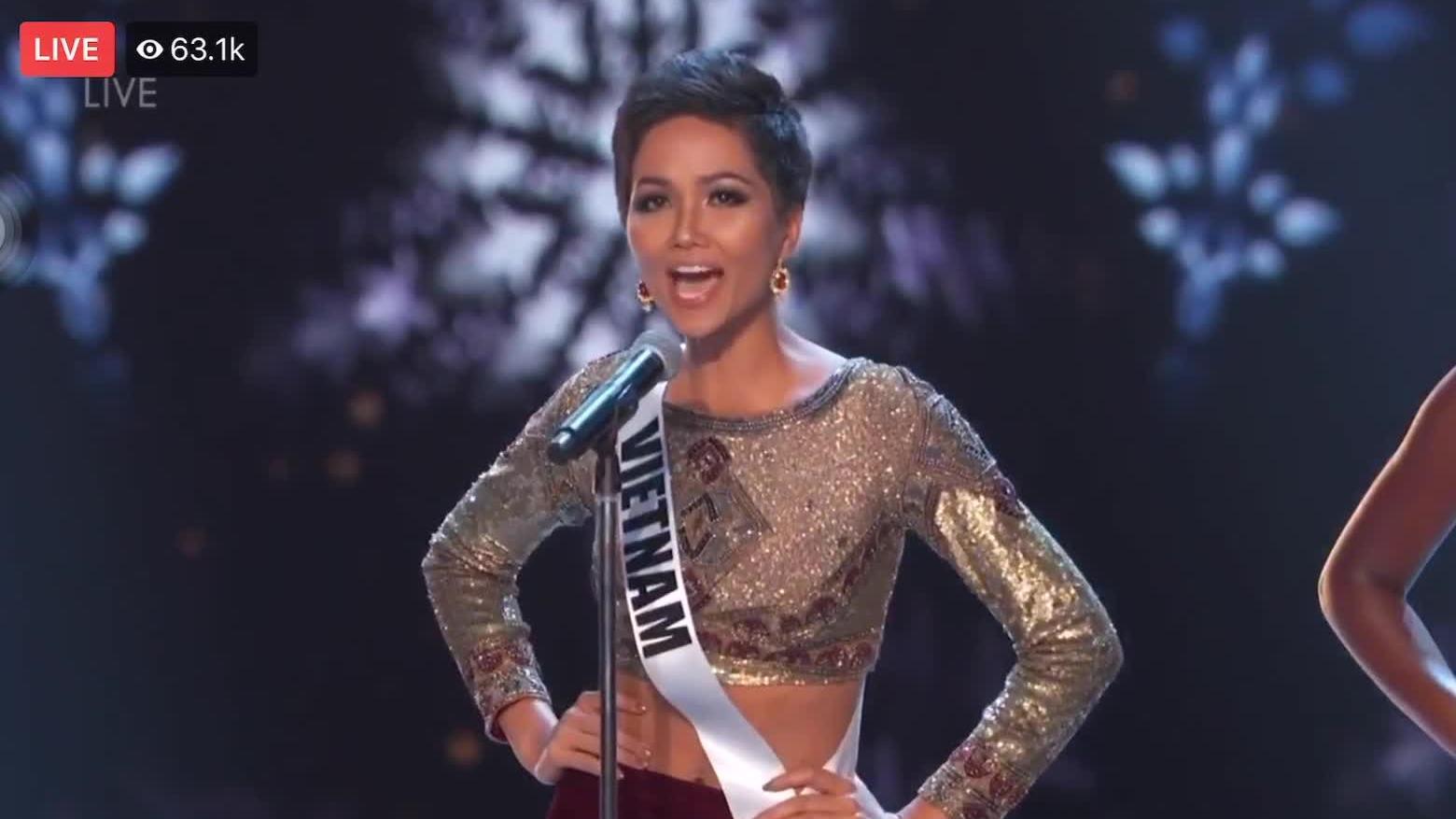 H'Hen Niê thi bán kết Miss Universe 2018