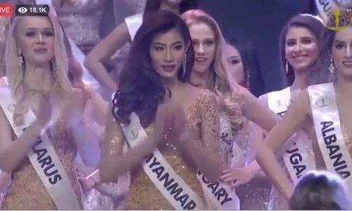 Thí sinh Miss Intercontinental lên nhận nhầm giải thưởng