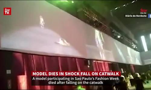 Mẫu nam tử vong sau khi ngã đập mặt xuống sàn catwal