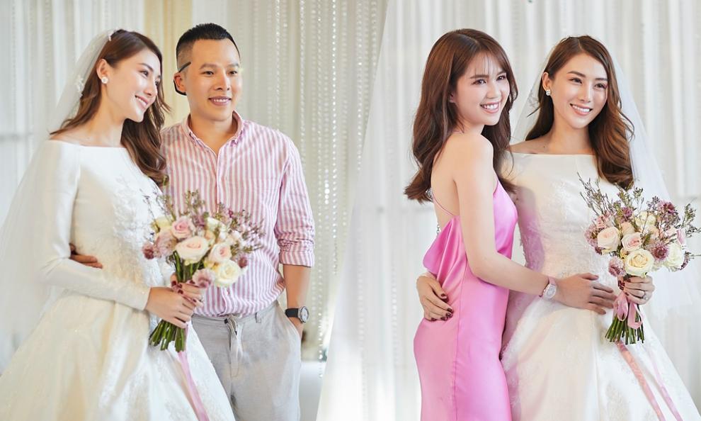 Ngọc Trinh, Vũ Khắc Tiệp dự đám cưới của Lê Hà