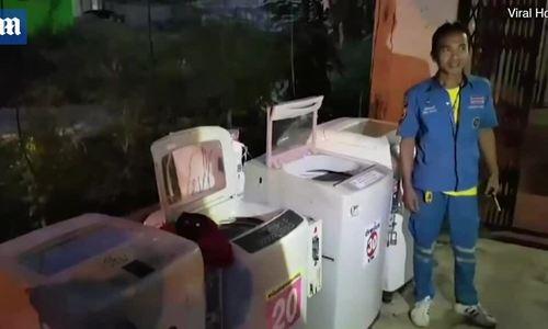Bé sơ sinh còn nguyên dây rốn bị vứt bỏ trong máy giặt