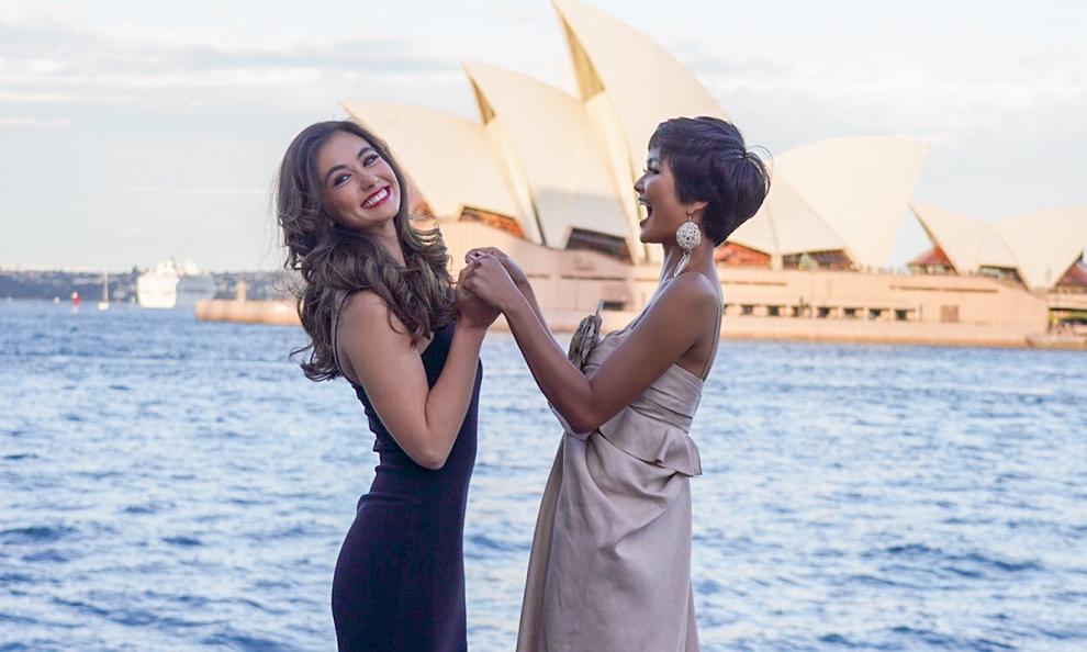 H'Hen Niê gặp lại Hoa hậu Australia từng 'hùa' chê tiếng Anh