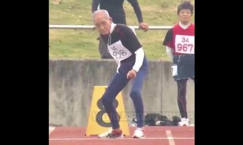 Cụ ông 102 tuổi hoàn thành 100m trong 28 giây
