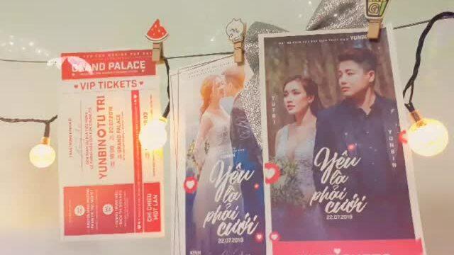 Thiệp cưới của đạo diễn Yun Bin và Á quân Solo cùng Bolero