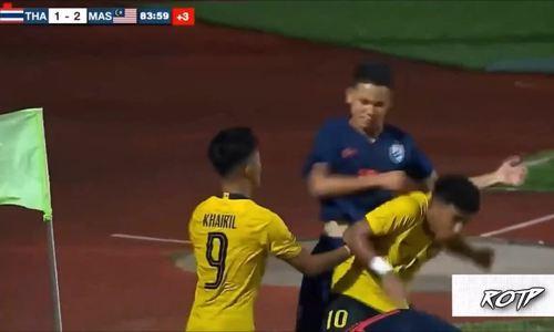 Cầu thủ trẻ Thái Lan, Malaysia lao vào đánh nhau