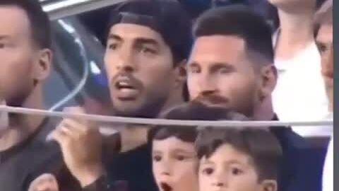 Con trai Messi hô vang khi đội bóng của bố bị thủng lưới