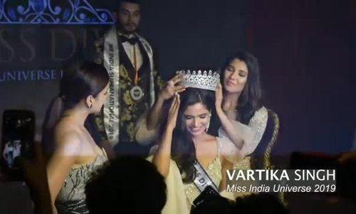 Vartika Singh được xướng tên là Hoa hậu Hoàn vũ Ấn Độ 2019