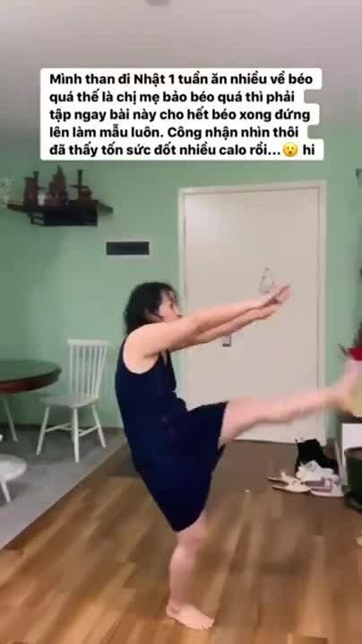 Than béo, Chi Pu được mẹ dạy 2 động tác đốt mỡ hiệu quả