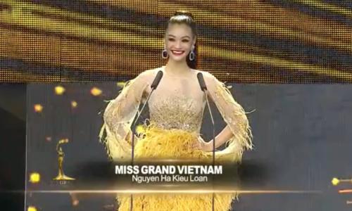 Kiều Loan thi bán kết Miss Grand International