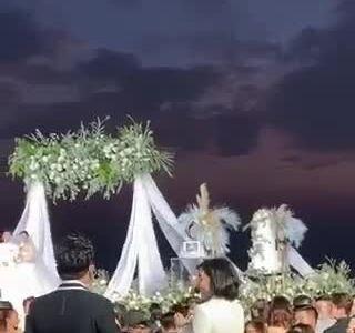 Diệu Nhi đi dép xẹp ở đám cưới Đông Nhi