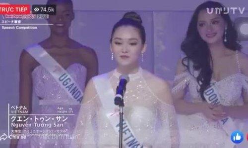Tường San ứng xử ở Miss International (2)