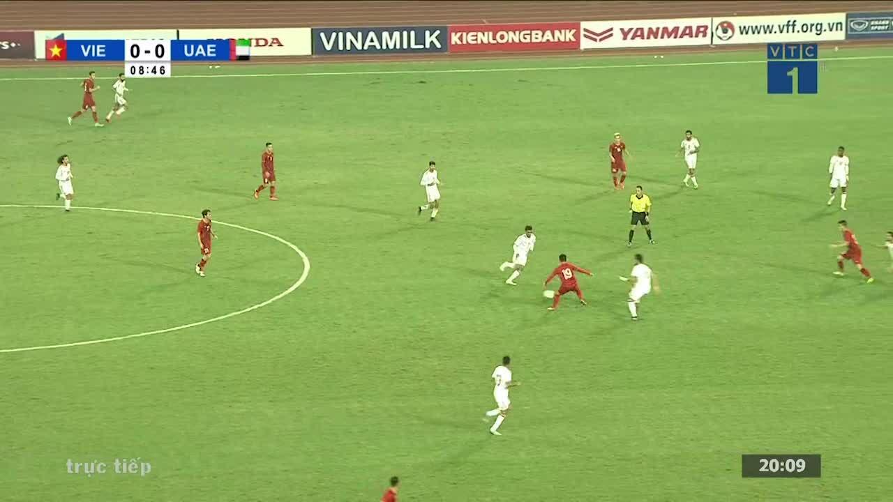Các pha bóng của Tuấn Anh trong trận thắng UAE