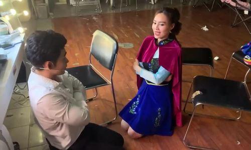 Lan Ngọc quỳ gối xin lỗi Jun Phạm sau vụ đăng video thay đồ