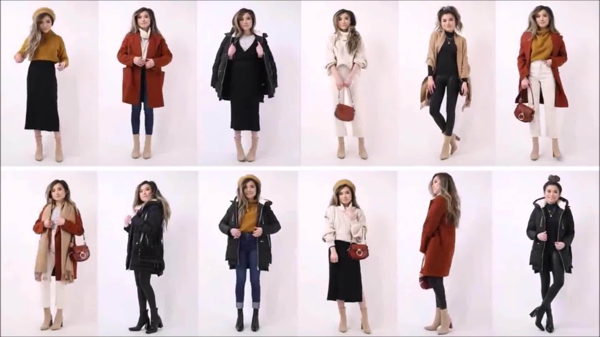 24 set đồ đông từ 12 món trang phục