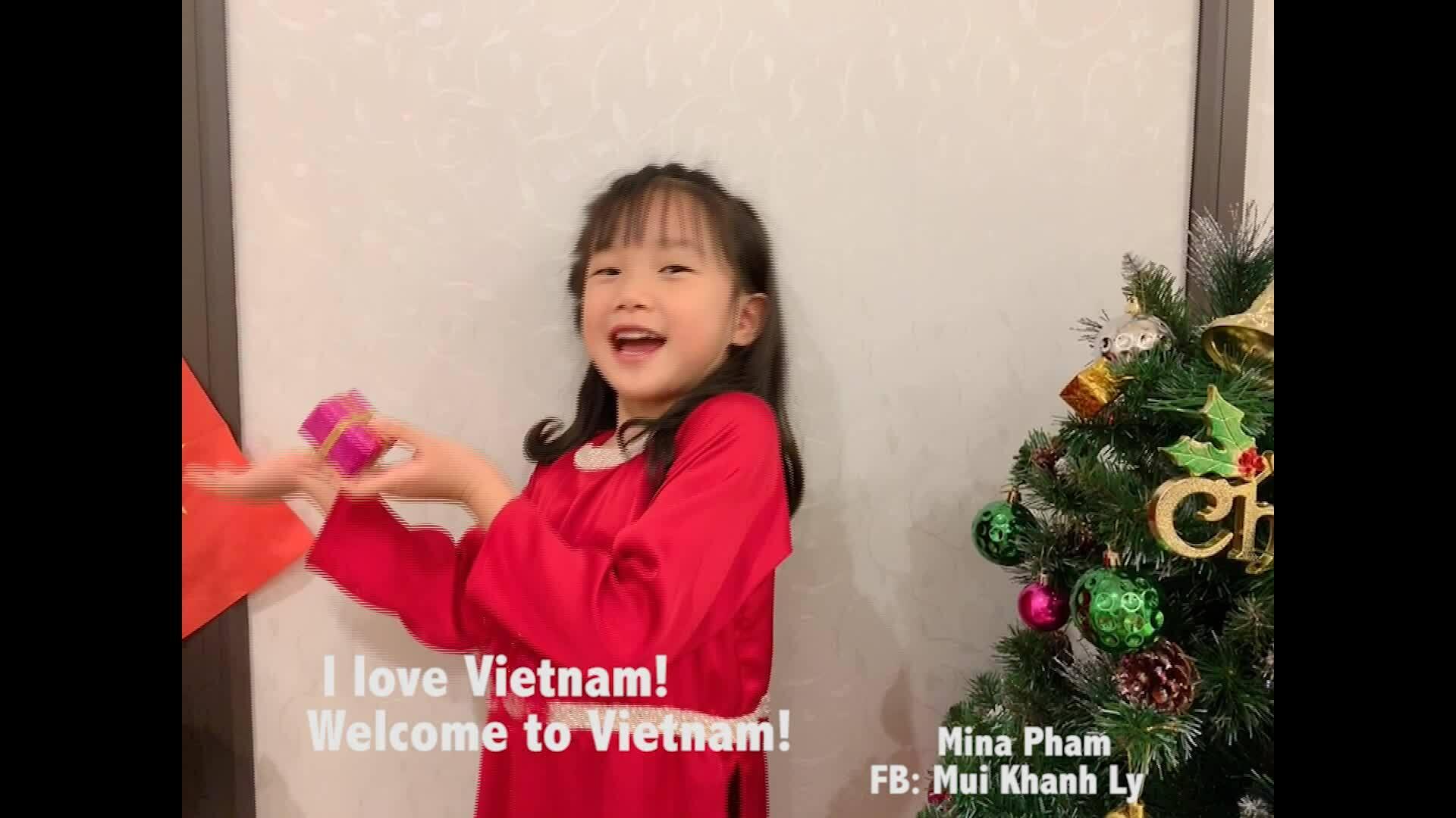 Con gái 6 tuổi của Mùi Khánh Ly chúc Tết bằng 21 ngôn ngữ