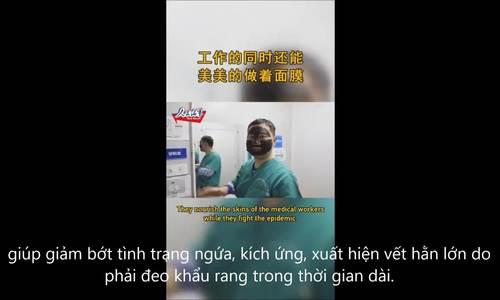 Y bác sĩ Vũ Hán được cung cấp mặt nạ dưỡng da