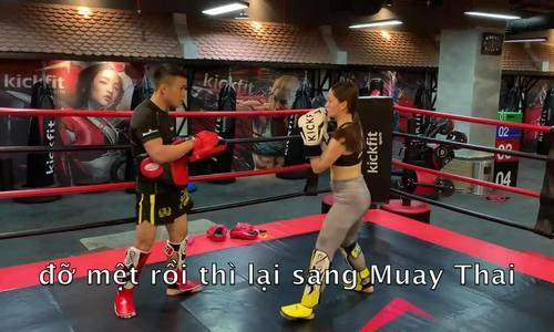 Lan Phương tập Muay Thái để giữ dáng