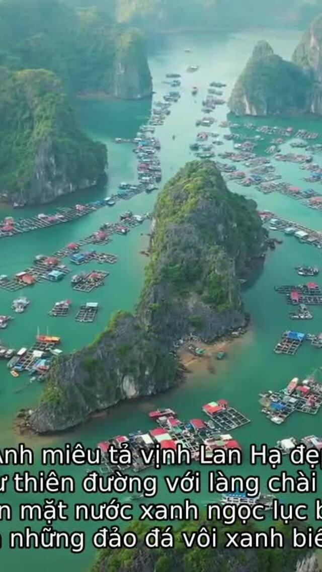 Leonardo Dicaprio kêu gọi du khách giữ gìn vịnh Lan Hạ