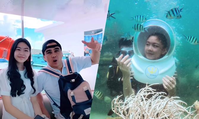 Gia đình Quyền Linh lặn biển, ngắm san hô