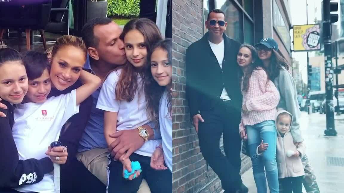 Jennifer Lopez và hôn phu sum vầy con chung, con riêng