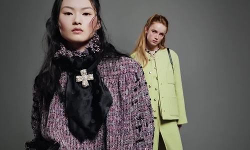 Dàn mẫu tạo dáng với thiết kế Chanel Thu đông
