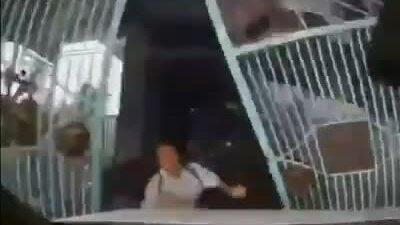 Con dâu đạp nhầm chân ga tông ngã bố chồng