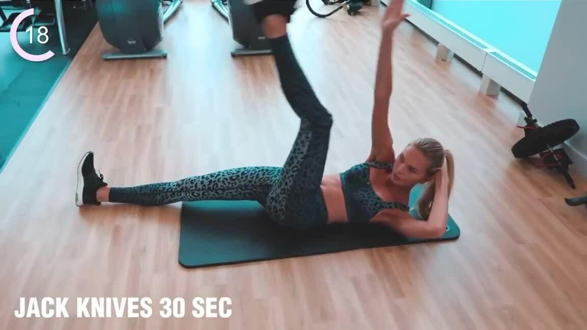 Bài tập bụng 15 phút của thiên thần Victoria's Secret