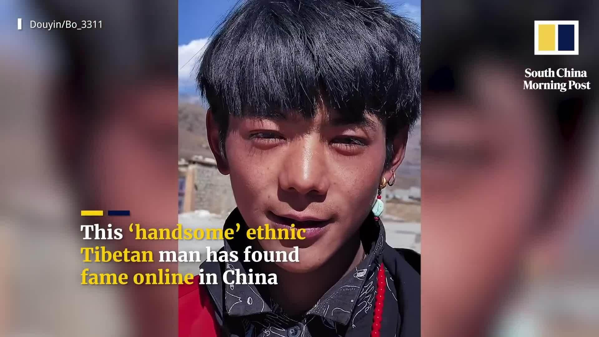 Chàng chăn bò Tây Tạng bỗng nổi tiếng vì quá đẹp trai