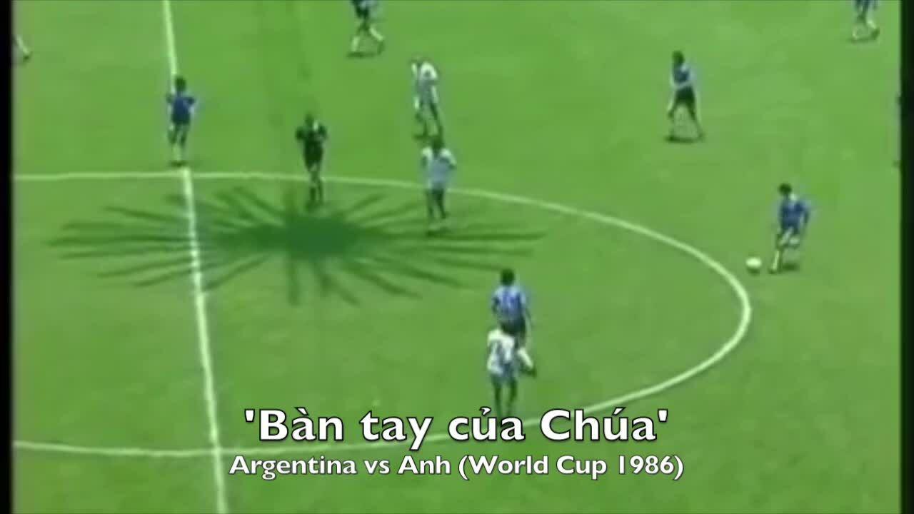 Hai bàn thắng để đời của Maradona tại World Cup 1986