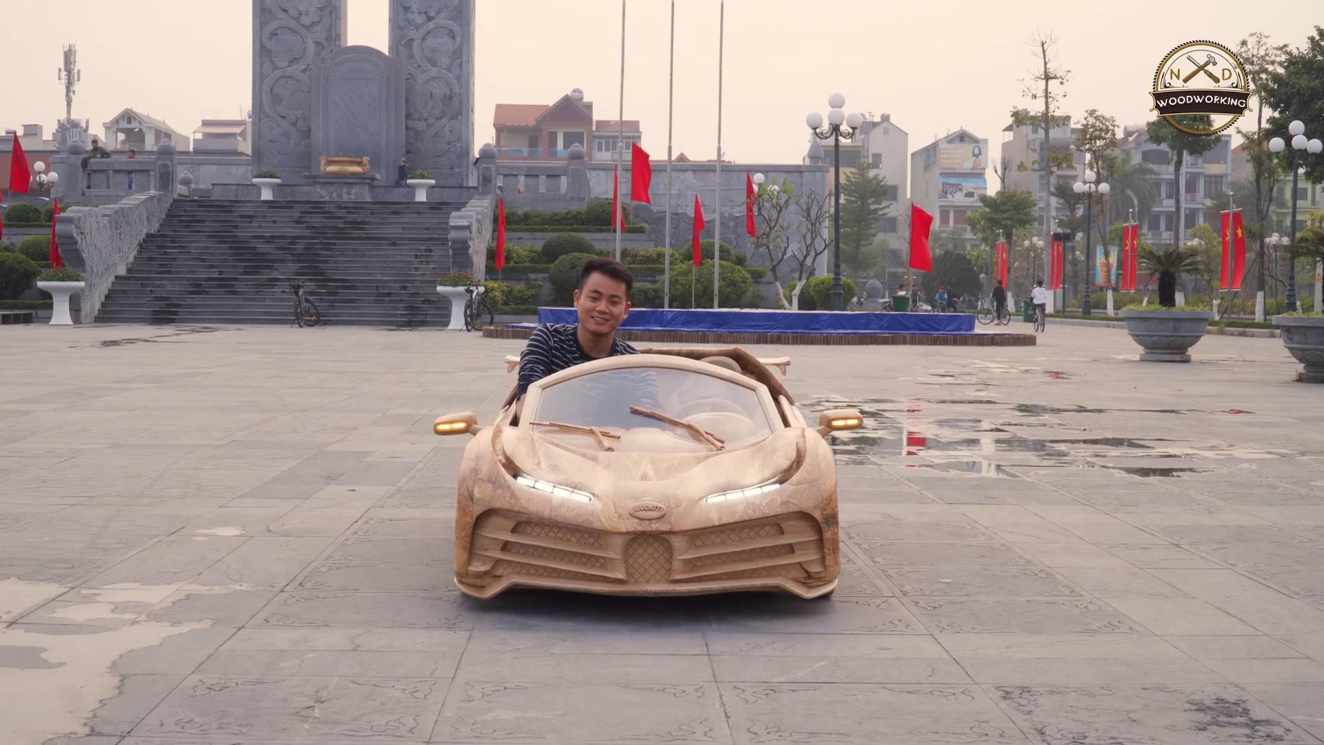 Làm ôtô gỗ cho con trai, ông bố Việt gây sốt truyền thông quốc tế