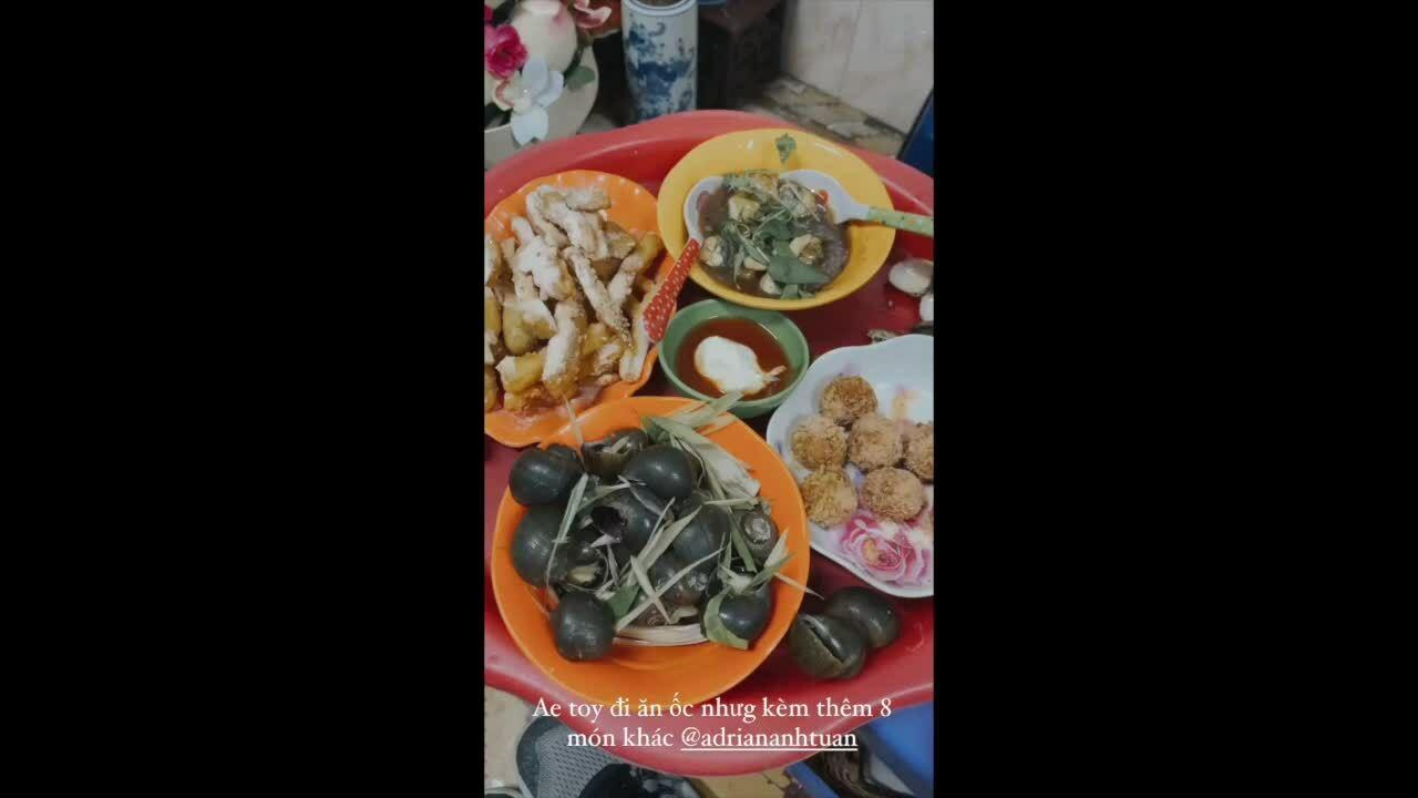 Mỹ Linh, Adrian Anh Tuấn rủ nhau ăn nhẹ tới 8 món