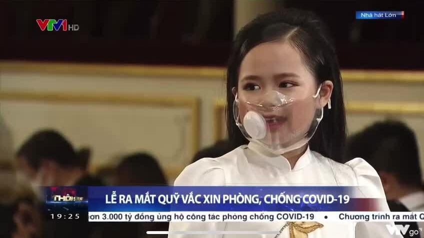 Á hậu nhí Hoàng Vân dùng tiền tiết kiệm một năm ủng hộ Quỹ vaccine Covid-19
