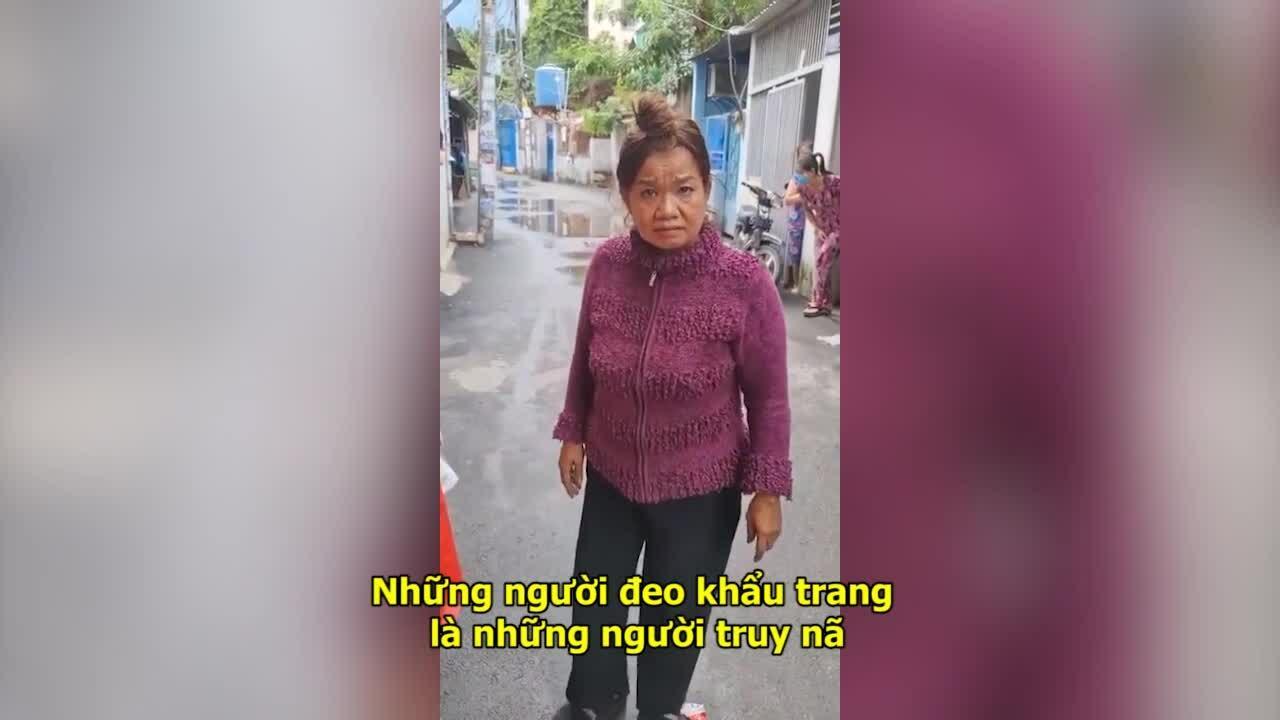 Người phụ nữ không đeo khẩu trang đòi vào khu cách ly