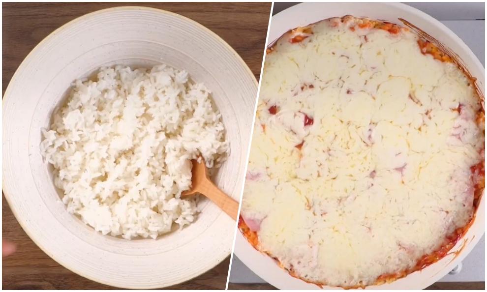 Biến cơm nguội thành bánh phô mai đút lò