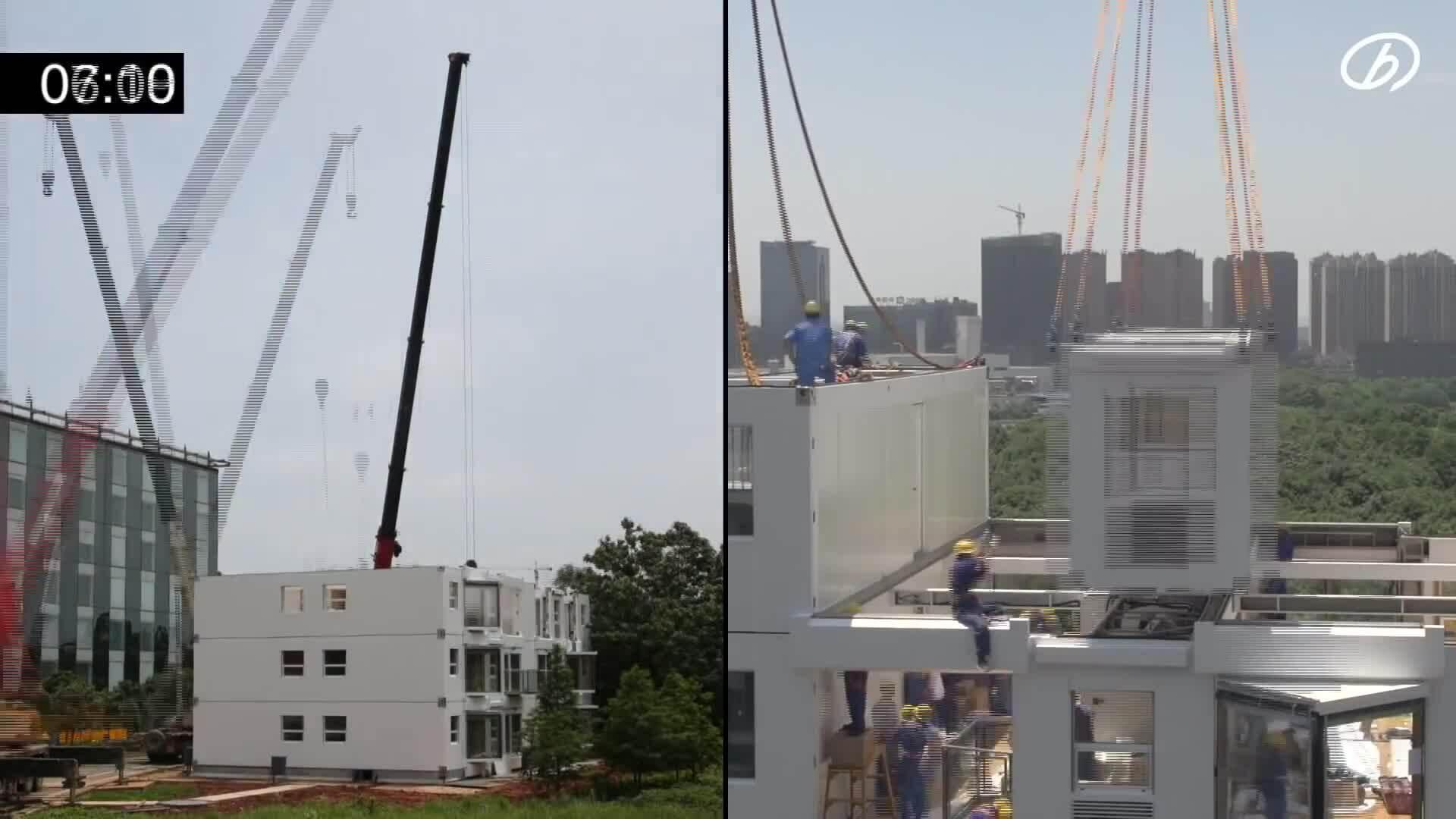Công ty Trung Quốc xây chung cư 10 tầng chỉ trong 29 giờ